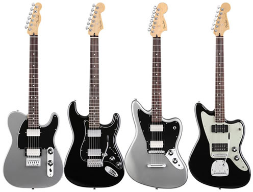 Four fender guitars - new Blacktop series