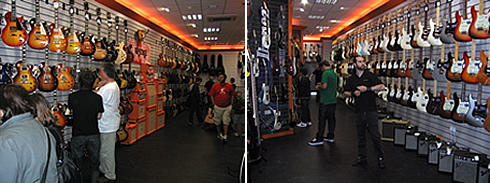 Interior view of Guitar Guitar store