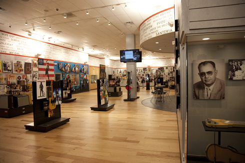 Interior view of Fender Visitor Centre