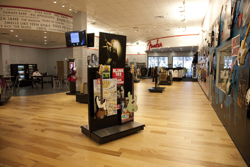 Interior view of Fender Visitor Center
