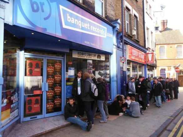 Outside Banquet records before opening
