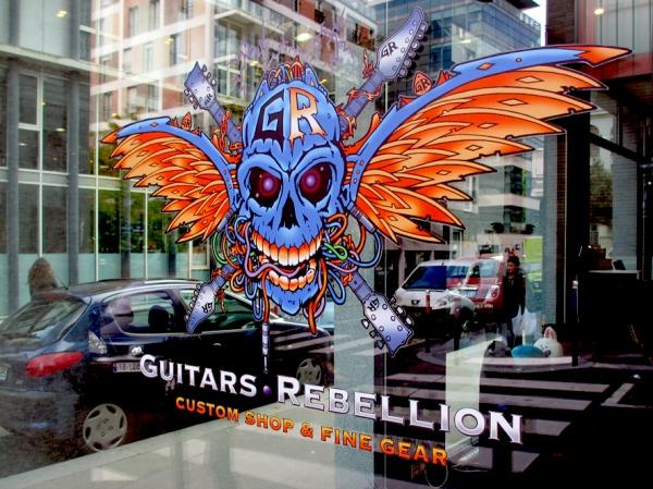 Guitars Rebellion showroom window