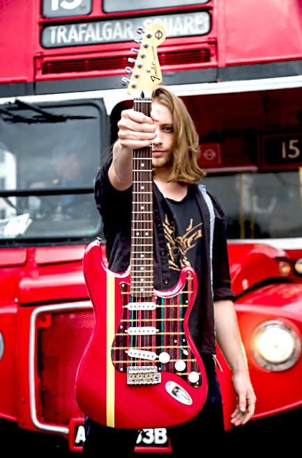 Routemaster themed Stratocaster