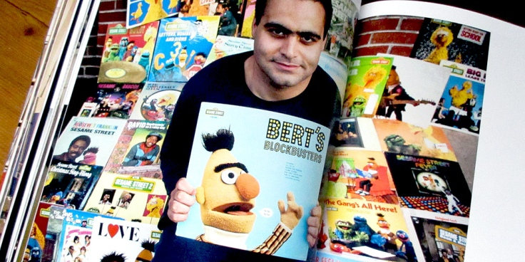 Dante Candelora and his collection of Sesame Street records