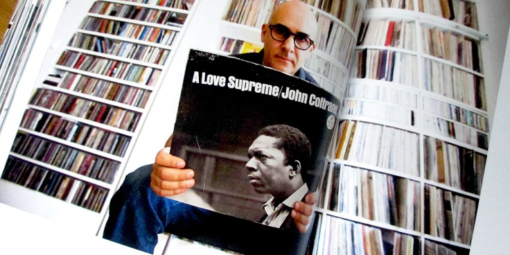 Joaquim Paolo with his favourite album, A Love Supreme by John Coltrane