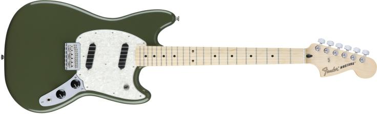 Fender Mustang in olive