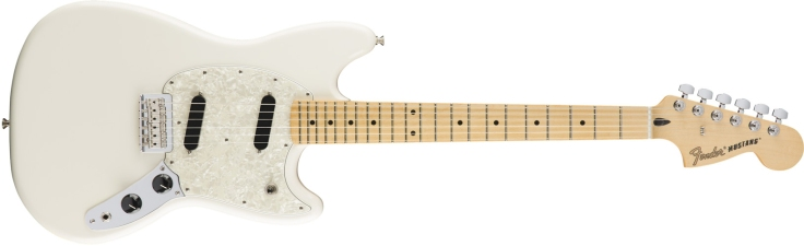Fender Mustang in Olympic White
