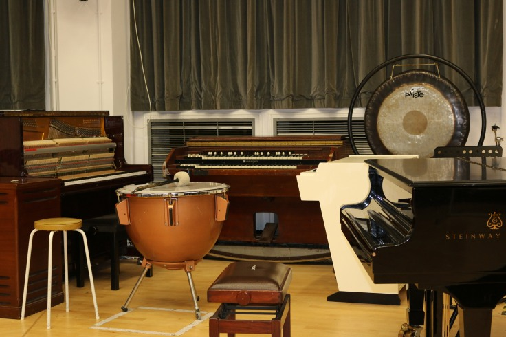 Vintage instruments in the live room