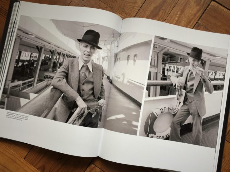 Bowie prepares to take a cruise aboard the SS Leonardo Da Vinci from New York to London