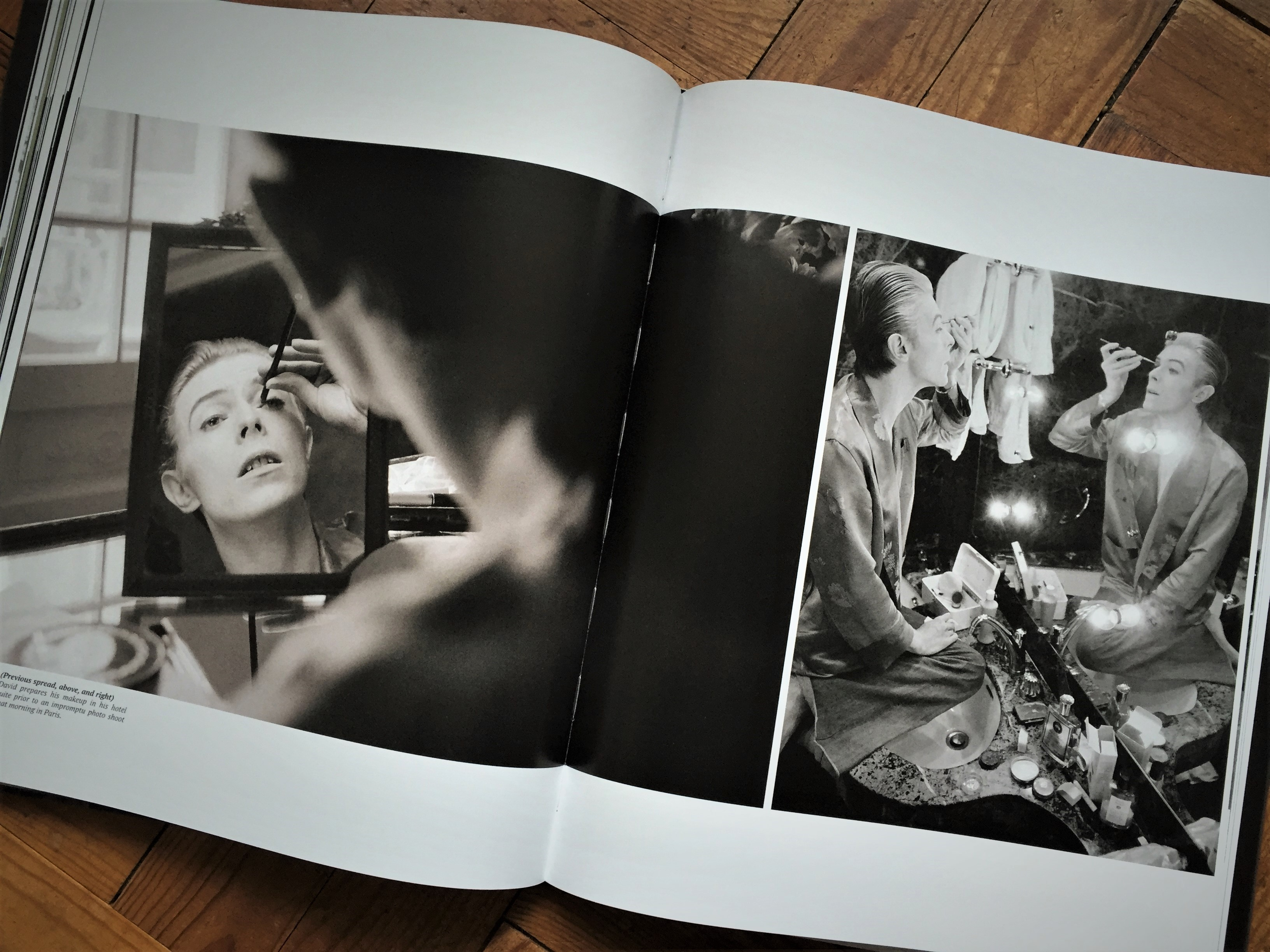 Curtain behind the curtain book - David Prepares His Makeup In His Hotel Suite Prior To An Impromptu Photo Shoot In Paris